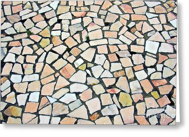 Portuguese Pavement Greeting Card by Carlos Caetano