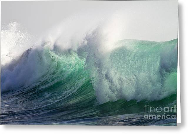 Koehrer-wagner_heiko Greeting Cards - Portuguese Sea Surf Greeting Card by Heiko Koehrer-Wagner