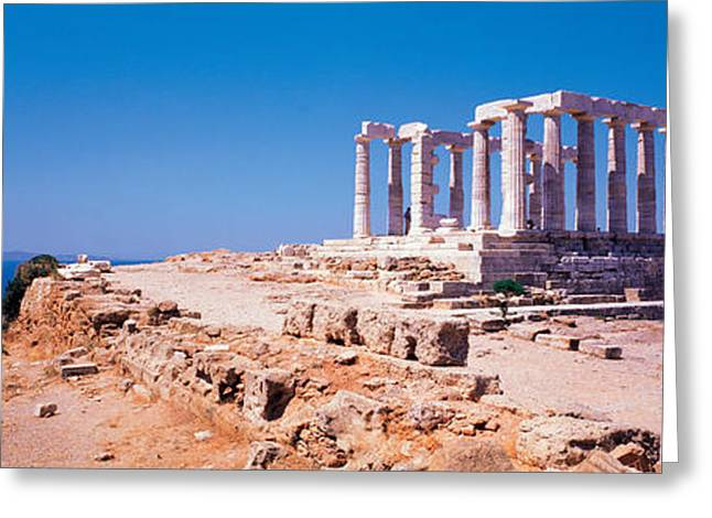 Poseidon Cape Sounion Greece Greeting Card by Panoramic Images