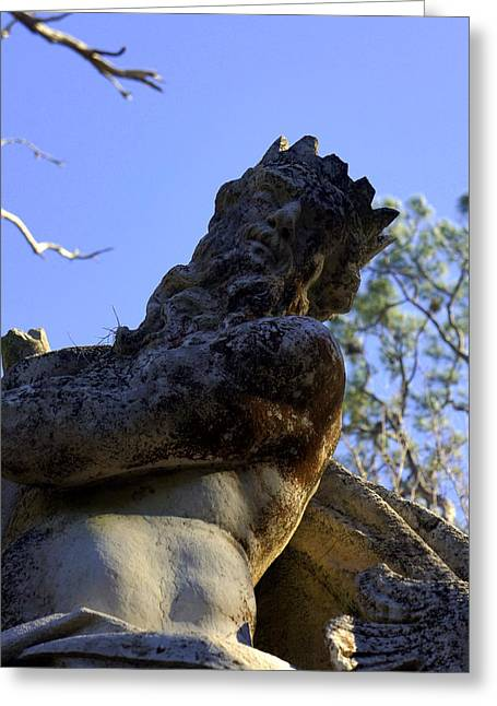 Greek Sculpture Greeting Cards - Poseidon Greeting Card by Laurie Perry