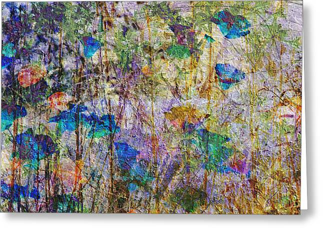 Motel Mixed Media Greeting Cards - Posies in the Grass Greeting Card by Kiki Art