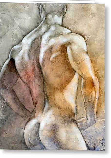 Male Nude Greeting Cards - Posing 2 Greeting Card by Chris  Lopez