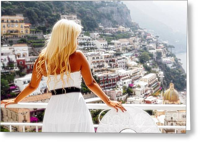 Arms Behind Back Greeting Cards - Positano Dreams II Greeting Card by George Oze