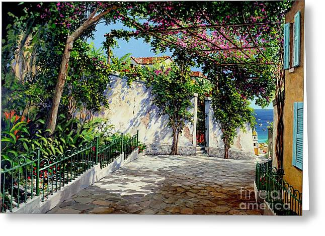 Michael Swanson Greeting Cards - Positano  Greeting Card by Michael Swanson
