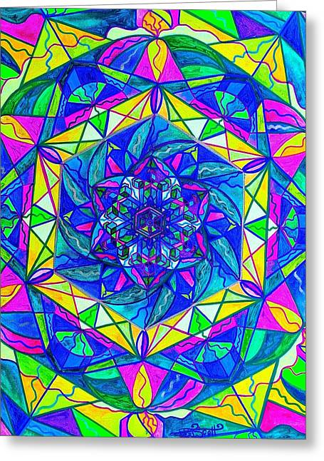 Frequency Prints Greeting Cards - Positive Focus Greeting Card by Teal Eye  Print Store