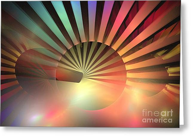 Geometric Design Greeting Cards - Positron Greeting Card by Kim Sy Ok