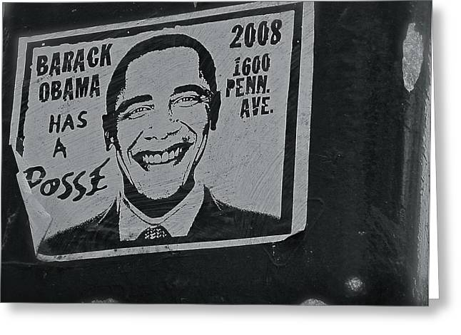 Barack Greeting Cards - Posse  Greeting Card by Scott Collin