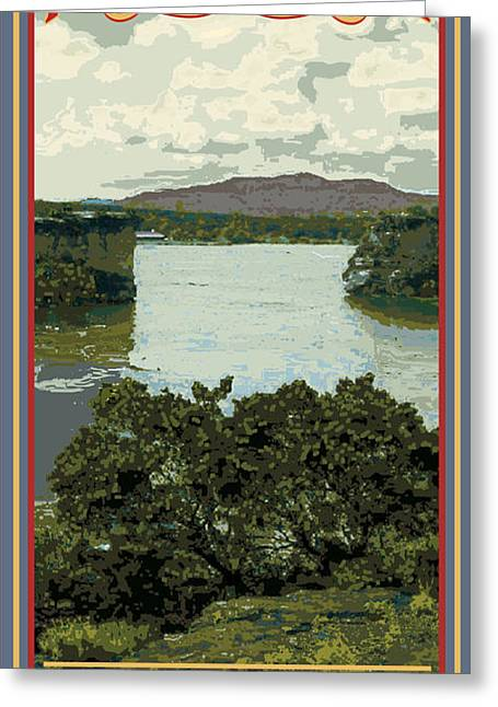 Geology Digital Art Greeting Cards - Possum Kingdom Hells Gate Greeting Card by Jim Sanders