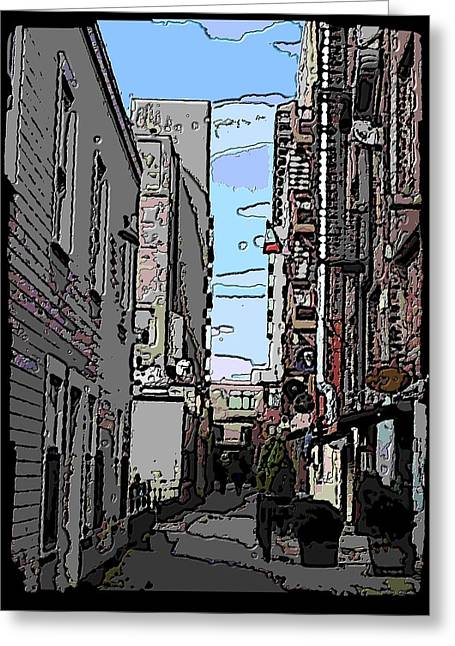 Washington Post Greeting Cards - Post Alley 6 Greeting Card by Tim Allen