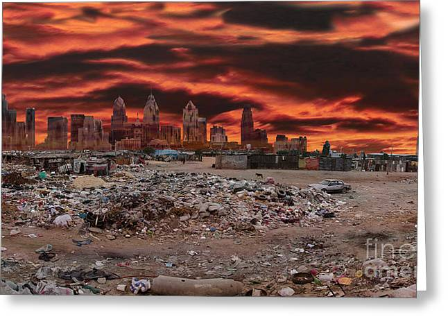 Post Disaster Greeting Cards - Post Apocalyptic Cityscape  Greeting Card by Trekkerimages Photography