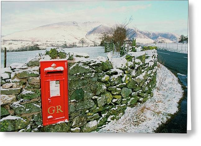 Post Box In St Johns In The Vale Greeting Card by Ashley Cooper