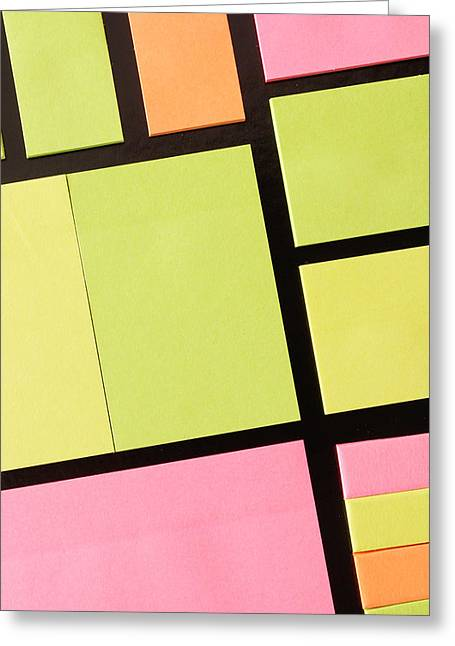 Stickers Greeting Cards - Post-it notes Greeting Card by Tom Gowanlock