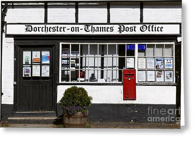 Postal Greeting Cards - Post Office in an Oxfordshire village in England Greeting Card by Robert Preston