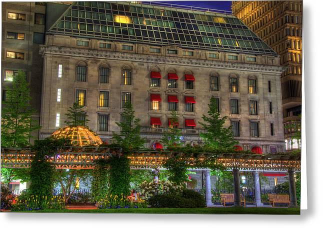 Office Space Photographs Greeting Cards - Post Office Square - Boston Greeting Card by Joann Vitali