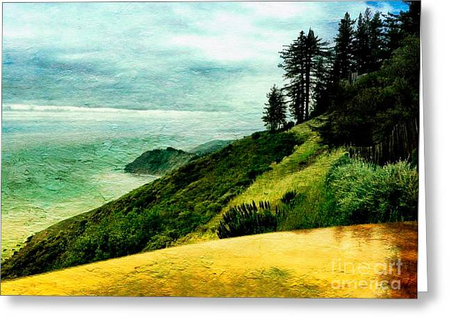 Big Sur Greeting Cards - Post Ranch View in Big Sur Greeting Card by Charlene Mitchell