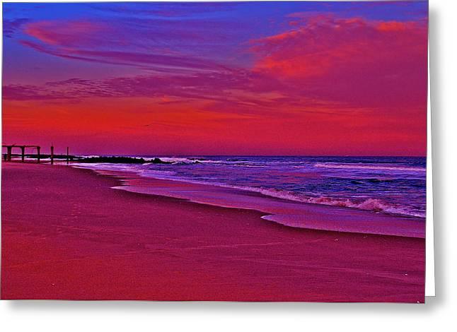 Ocean Grove Greeting Cards - Post Sandy Pier Greeting Card by Joe  Burns