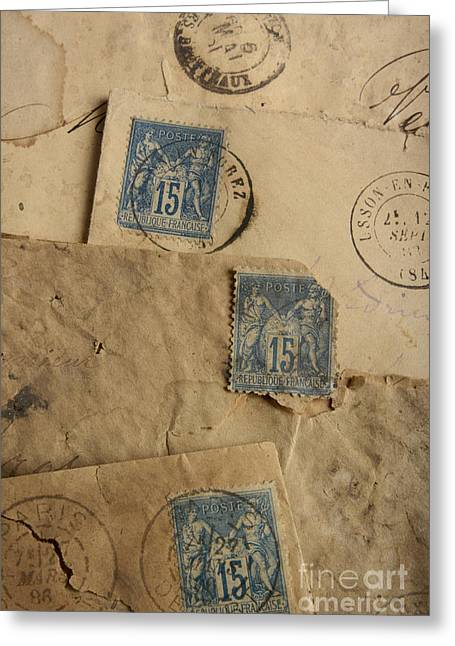The Past Greeting Cards - Postage stamp Greeting Card by Bernard Jaubert