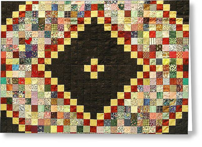 Hand Quilted Tapestries - Textiles Greeting Cards - Postage Stamp by Roma Lambson Greeting Card by Roma Lambson