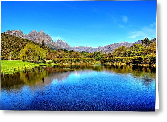 Stellenbosch Greeting Cards - Postcard Cafe Greeting Card by Chris Whittle