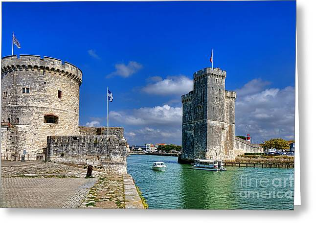 Nicholas Greeting Cards - Postcard from La Rochelle Greeting Card by Olivier Le Queinec