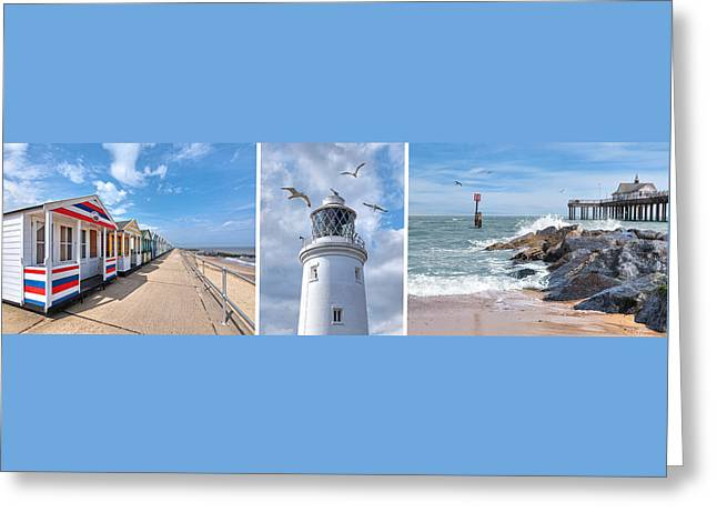 Collection Of Rocks Greeting Cards - Postcard From Southwold Greeting Card by Gill Billington