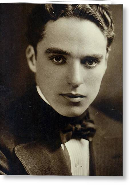Celebrities Photographs Greeting Cards - Postcard of Charlie Chaplin Greeting Card by American Photographer