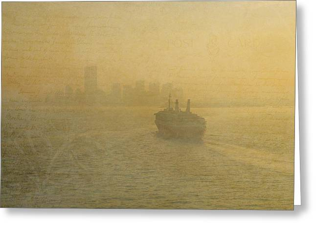 Wtc 11 Greeting Cards - Postcards from New York Greeting Card by Joann Vitali