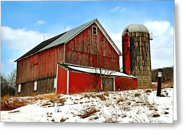 Wooden Building Greeting Cards - Posted No Trespassing Greeting Card by Christina Rollo