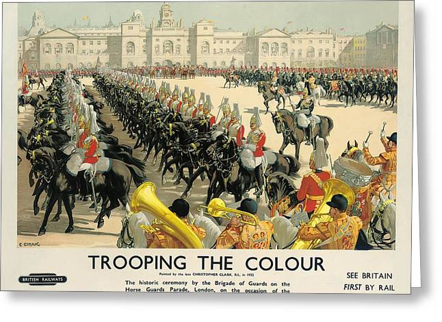 Buckingham Palace Greeting Cards - Poster Advertising British Railways Greeting Card by Christopher Clark