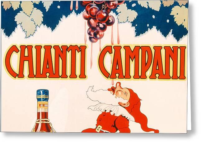 Poster advertising Chianti Campani Greeting Card by Necchi
