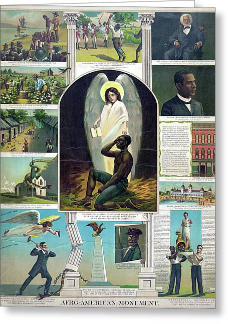 Poster Black History, C1897 Greeting Card by Granger