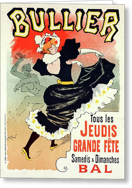 Poster For Le Bal Bullier. Meunier, Georges 1869-1942 Greeting Card by Liszt Collection