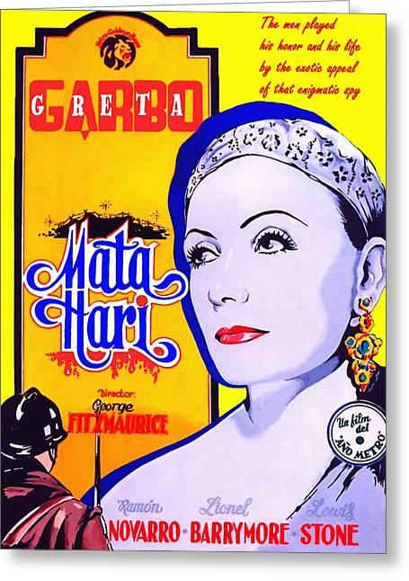 Hari Greeting Cards - Poster of Mata Hari Greeting Card by Art Cinema Gallery