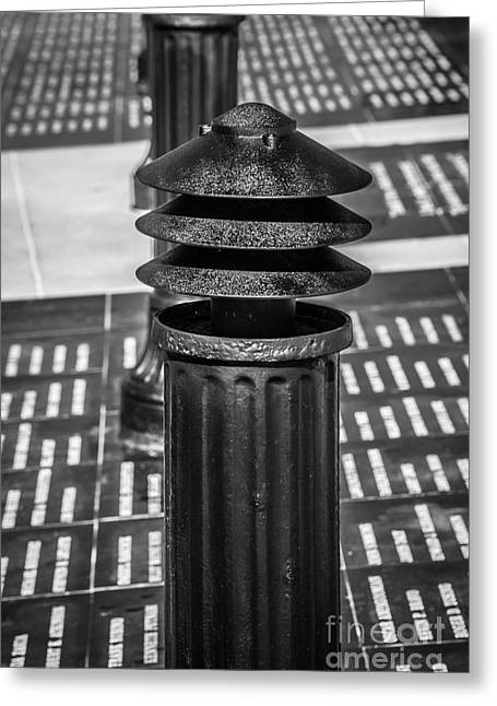 Kahlil Gibran Greeting Cards - Posts 1 - Key West AIDS memorial - black and White Greeting Card by Ian Monk