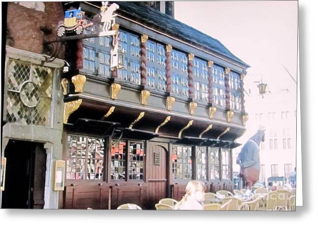 Urban Images Greeting Cards - Postwagen Old German Restaurant Aachen Germany Greeting Card by Anthony Morretta