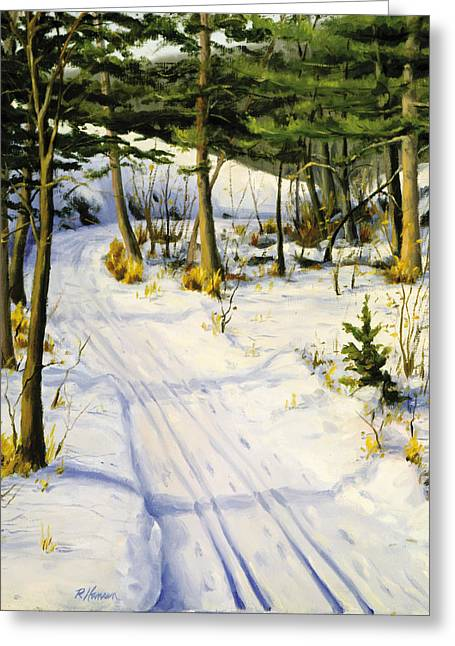 Park Scene Paintings Greeting Cards - Pot Hole Trail St Croix River Greeting Card by Rick Hansen