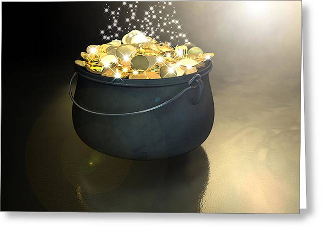 Pot Of Gold Greeting Card by Allan Swart