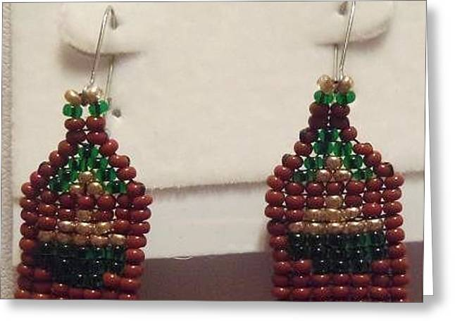 Gold Earrings Greeting Cards - Pot of Gold Earrings Greeting Card by Kimberly Johnson