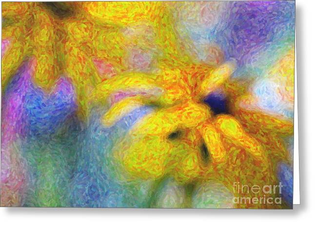 Pink Gold Flora Greeting Cards - Pot of Gold Greeting Card by Tim Gainey