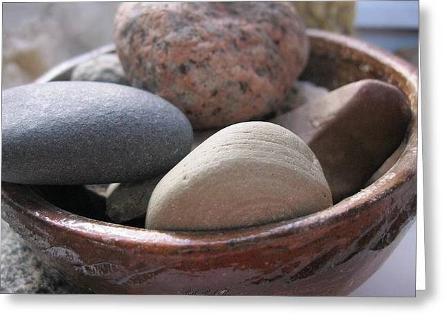 Photograph Jewelry Greeting Cards - Pot of Rocks Greeting Card by Beth Beck