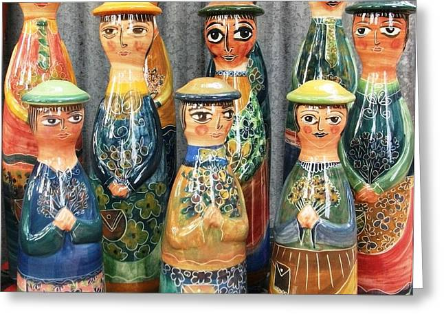 Pot People Greeting Card by Catherine Walker