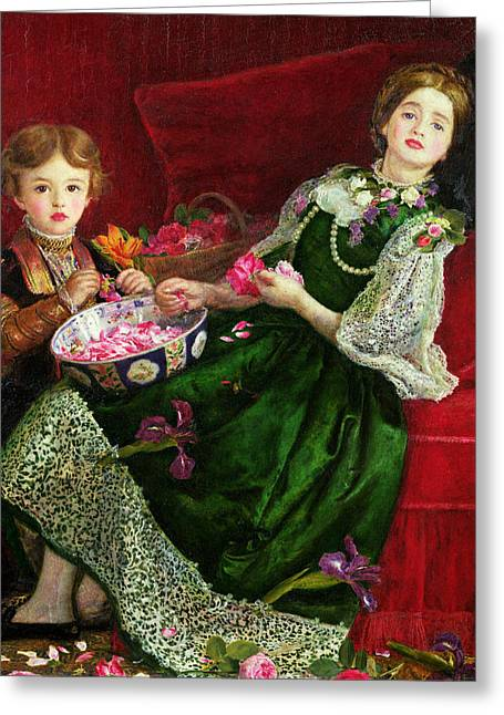 Pot Pourri  Greeting Card by Sir John Everett Millais