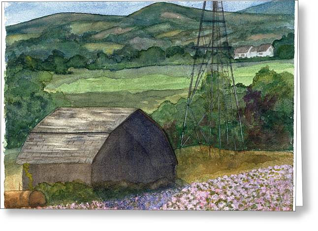 Potato Blossoms Greeting Card by Paula Robertson