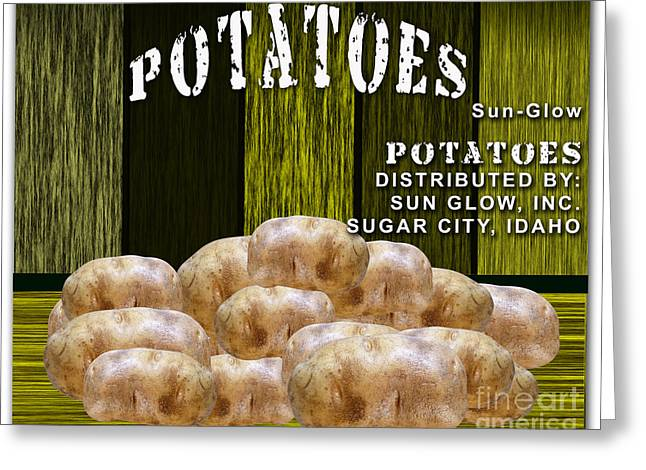 Potato Greeting Cards - Potato Farm Greeting Card by Marvin Blaine