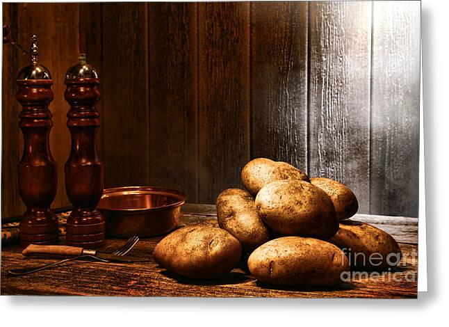 Potatoes Greeting Card by Olivier Le Queinec