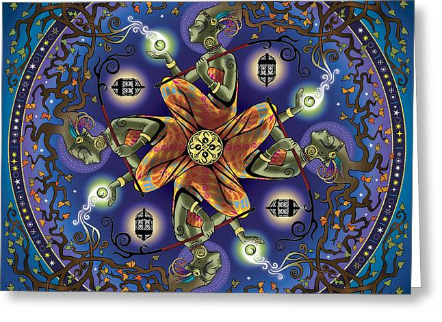 Potential Greeting Cards - Potential Mandala Greeting Card by Cristina McAllister