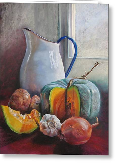 Lynda Robinson Greeting Cards - Potential Pumpkin Soup Greeting Card by Lynda Robinson