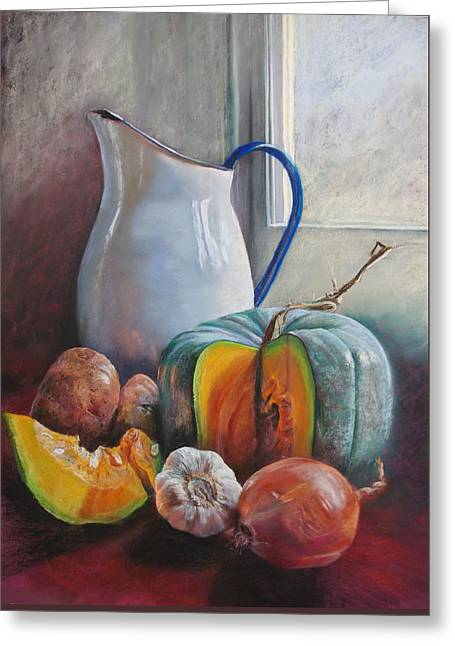 Potential Pumpkin Soup Greeting Card by Lynda Robinson