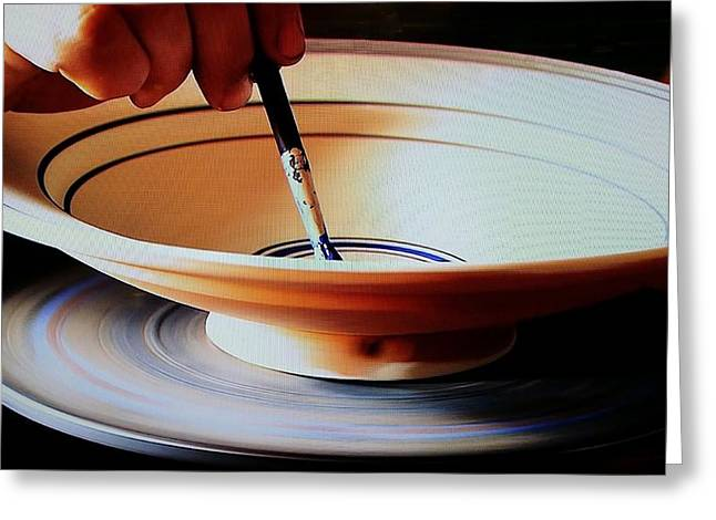 Decor Ceramics Greeting Cards - Potery Bowl Greeting Card by Rob Hans