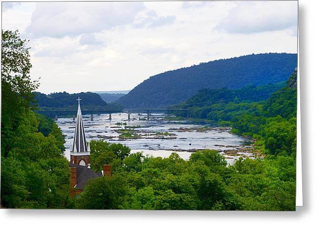 Harpers Ferry Digital Greeting Cards - Potomac River at Harpers Ferry Greeting Card by Bill Cannon